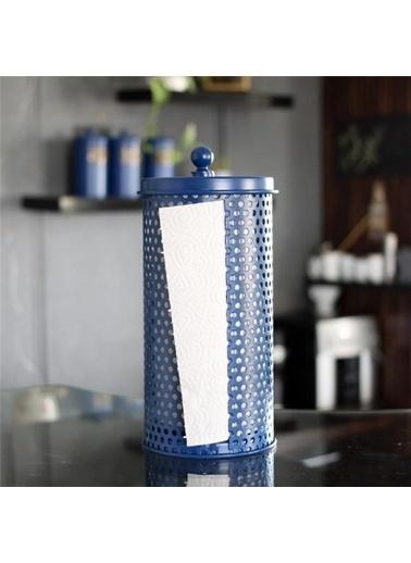 The Mia The Mia Kobalt Mavi Galvaniz Havlu Peçetelik 30X14 Cm Renkli